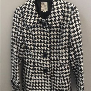 Tulle Houndstooth Coat